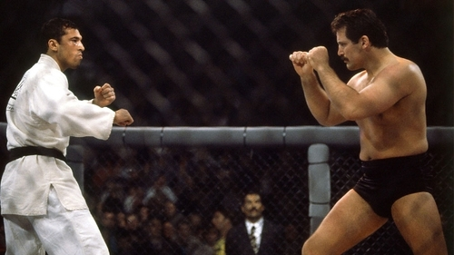 UFC 4, March 11, 1994, the first time most of the world witnessed a triangle choke applied in a combat sport.